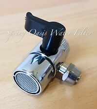 "Faucet Adapter Diverter Valve RO Water Filter System Chrome 1/4"" compression"