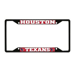 Fanmats NFL Houston Texans Black Metal License Plate Frame Del. 2-4 Days