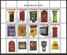 Surinam / Suriname 2009 Brievenbus mailbox briefkasten boîte aux lettres MNH tab