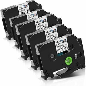 5 x Nastri bianchi compatibili per etichettatrice Brother TZe-231 12mm 0.47 x 8m