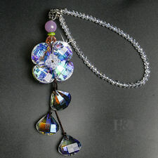 Handmade Flower Rainbow Suncatcher Crystal Prisms Ball Window Car Mirror Decor