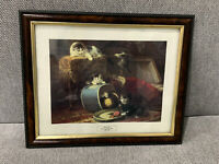 The Hat Box Art Print w/ Cats Kittens After Painting by Henriette Ronner Knip