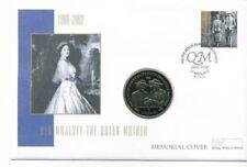 Gibilterra MERCURIO FAR rintracciare COIN COVER 2002 Regina Madre Memorial corona UNC TIMBRO 42p