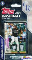 Colorado Rockies 2020 Topps Limited Edition 17 Card Team Set-Nolan Arendo,Story+
