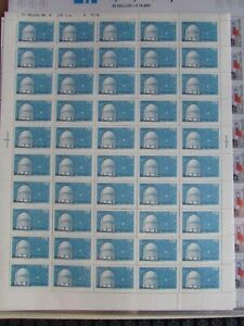 CHILE 1971 Full sheet Observatorio TOLOLO Astronomy MNH