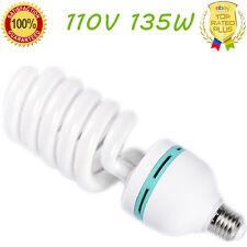 110V135W Energy Saving CFL E27 Light Bulb 5500K Photography Studio Daylight Lamp