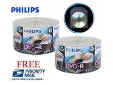 500 PHILIPS Logo Top 16X Blank DVD-R Disc + 500 CPP Clear Plastic Sleeves