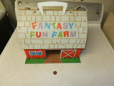 Rare Marx playset barn: Fantasy Fun Farm, an obscure set from 1972, FREE SHIP!