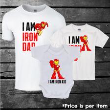 Marvel Iron Man Inspired Matching T-shirt Set, Father, Boys, Girls, Kids, Gift