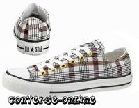 Womens Men CONVERSE All Star BLACK WHITE RED PLAID OX Trainers Shoe 35 SIZE UK 3