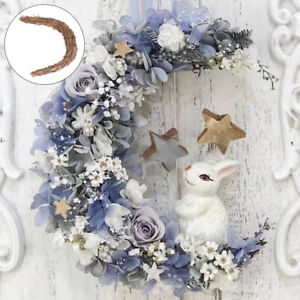 Wreath DIY Rattan Moon Shape Garland Making Frame Hanging Decors  Wicker