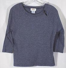 Talbots Petite PL Top Gray 3/4 Sleeves