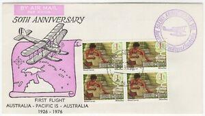 1976 27th Sep. 50th Anniv. 1st Flight Aus - Pacific Is - Aus. AAMC 1800a. Mauve.