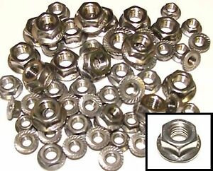M4, M5, M6, M8 Stainless Serrated Flange Nuts 4mm,5mm,6mm,8mm - Mixed Pack x50