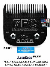 ANDIS Ultra Edge EGT+PLUS 7FC BLADE*Fit AGC,DBLC,BDC,Oster A5,A6 Wahl KM Clipper