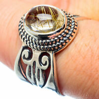Rutilated Quartz 925 Sterling Silver Ring Size 8.25 Ana Co Jewelry R26581F
