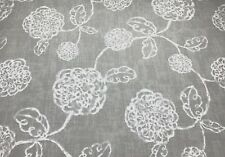 Magnolia Home Adele Slate Grey Whimsical Floral Furniture Fabric By The Yard