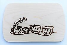 Frühstücksbrettchen Frühstücksbrett Gravur Zug Lok Vesper Holz Namen Brett neu