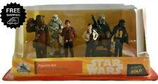 Disney Solo: A Star Wars Story Han Solo Figure Play Set 6 Piece Chewbacca Qi'Ra