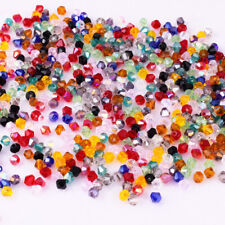 200pcs Glass Mixed Faceted Double cone Loose Spacer Beads DIY Jewelry Findings