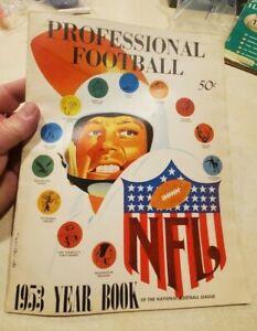 Vintage 1953 NFL Professional Football  Year Book Yearbook Halas Gifford Graham