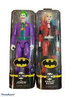 """DC Comics Harley Quinn & The Joker 12"""" Action Figures 1st Edition Spin Master"""