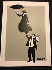 No Fly List - 2015 Tabby screen printed poster TSA Mary Poppins