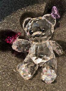 Swarovski Crystal Lovlots Kris Bear Playful Butterflies 1143450 MIB