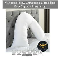 V Shaped Pillow Orthopedic Back Support Pregnancy Maternity Nursing Extra Filled