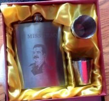 Iraq / I Miss Iraq (Saddam Hussien ) 7 oz Stainless Steel Flask.