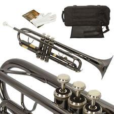 Hot School Student Black Bb Beginner Trumpet + Case + Gloves + Mothpiece