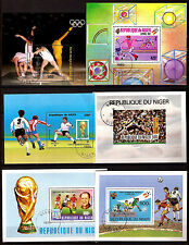 Rep. du NIGER 6 Blocs SPORT: Football, coupe du monde,Athletisme  C213