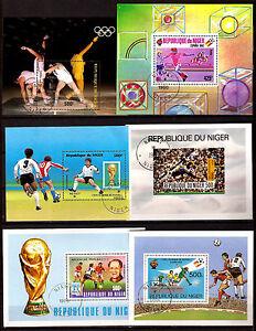 8 Rep.Of Niger 6 Blocks Sport: Soccer, Coupe Du Monde, Arm Band C213