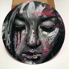 """* DAVID WALKER * UNIQUE PAINTING ON 12"""" VINYL RECORD * SIGNED * edition print"""