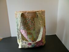 Quilted Bag/Tote-handmade, Patchwork Soft Colors, Pastels & Florals