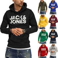 Jack & Jones Herren Hoodie Kapuzenpullover Sweater Pullover Jumper Logo Casual