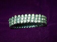 Vintage-c.1960- Expandable Diamante Bracelet-Clear Diamante Stones,Christmas?