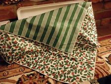 "Longaberger 24"" Accent Square Traditional Holly reverses to Green stripe"