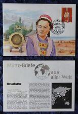 Numisbrief - Kasachstan / Kazahstan - mit 100 Tenge Münze (siehe Foto) - 1992