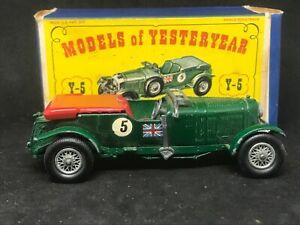 Matchbox Yesteryear Y5 Series 2 Issue 5 1929 4.5 lt. Bentley w D1 Box