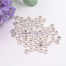 50Pcs 6MM Tibetan Silver Rings Spacer Beads Jewelry Findings W3036