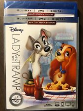 Disney Lady and the Tramp Blu Ray & DVD Slipcover LOOK Signature Collection