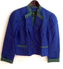 Damen Trachten Janker Jacke Leinen blau grün Gr. 38 v. Perry