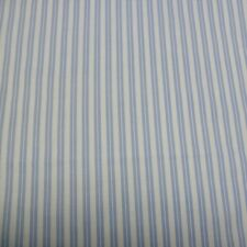 Blue DOUBLE STRIPE White Fabric - FQ