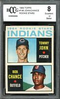 1964 Topps #146 Tommy John Rookie Card BGS BCCG 8 Excellent+