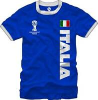 Italia Italy Soccer FIFA World Cup 2014 T - Shirt Blue Flag Logo Men's M L XL