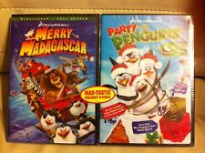 NEW-Merry Madagascar & Party with the Penguins-Mad-Tastic Holiday 2-pack