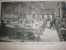 Printed photo female clerks punching the US American census return 1901