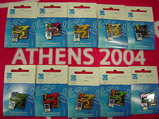 SET OF 10 PINS - RUNNER COUNTDOWN 10 TO 1 DAYS TO GO - ATHENS 2004 OLYMPIC PINS