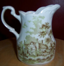 M & G MEAKIN ROMANTIC ENGLAND CREAMER GREEN LOWER BROCKHAMPTON VERY NICE